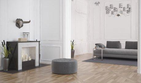 Entreprise professionnelle pour le changement d'un parquet flottant dans un salon